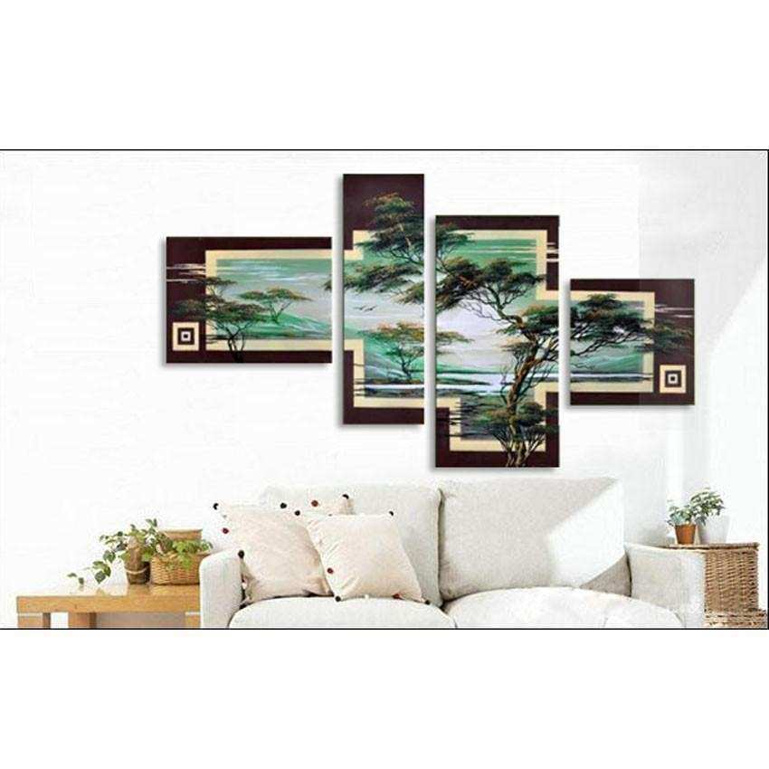 4 Piece Cheap Modern Canvas Art Decoration Oil Living Room
