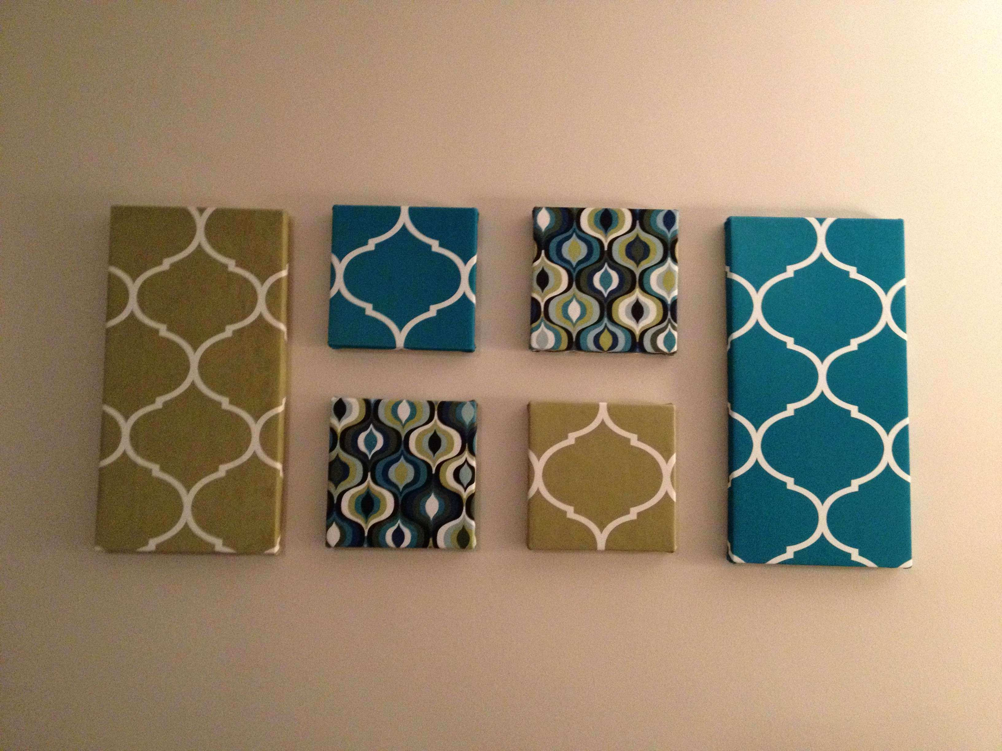 fabric covered canvas wall art