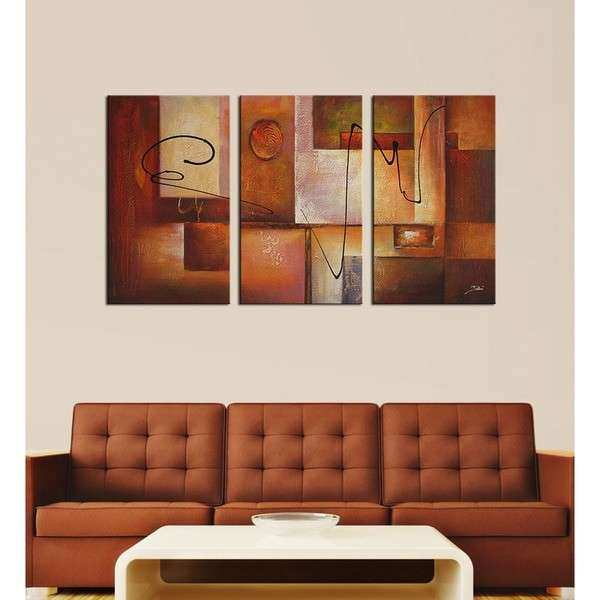 Abstract 11 3 piece Canvas Art Set Free Shipping Today