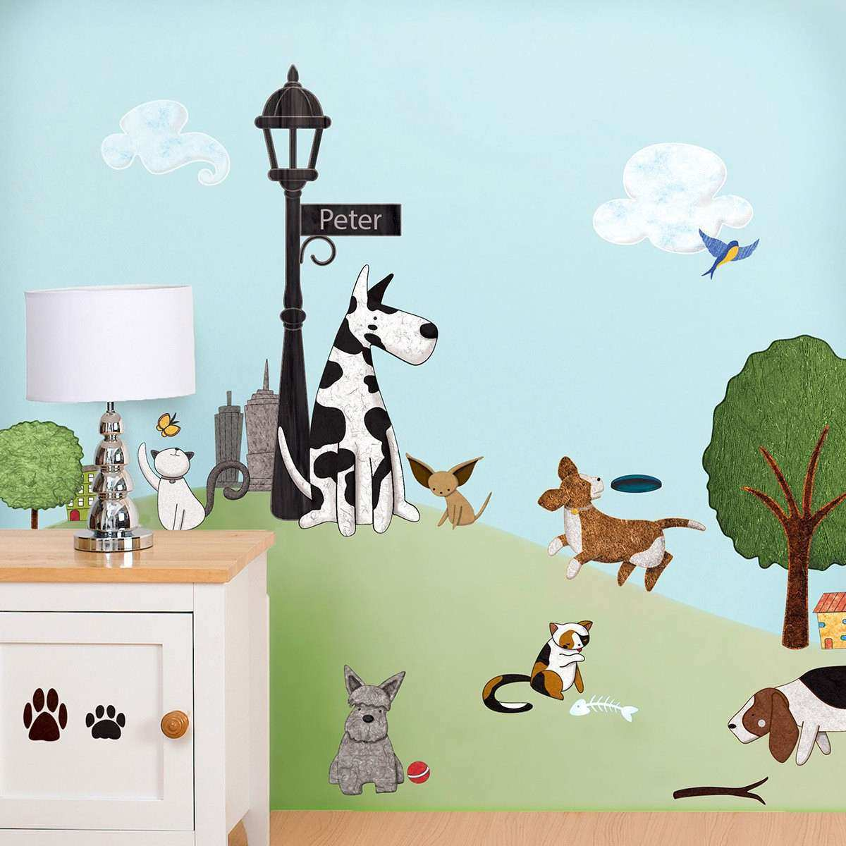 Cat Wall Decor Inspirational Cat And Dog Wall Decals Stickers For Nursery  And Kids Room