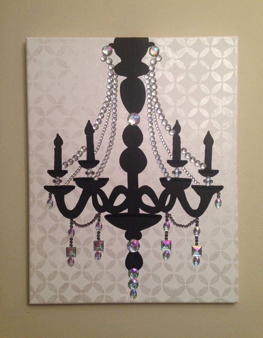 with dust diamond chandelier silver original product and ruby art b canvas by encrusted black rubyandb