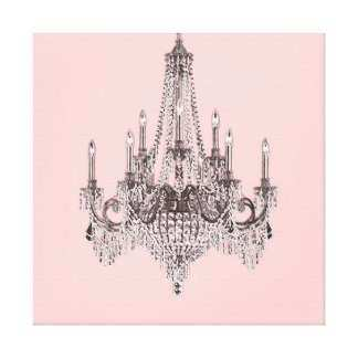 Chandelier Wrapped Canvas Prints