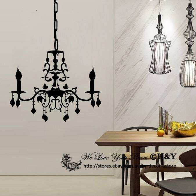 Chandelier Removable Wall Stickers Vinyl Wall Decals Art