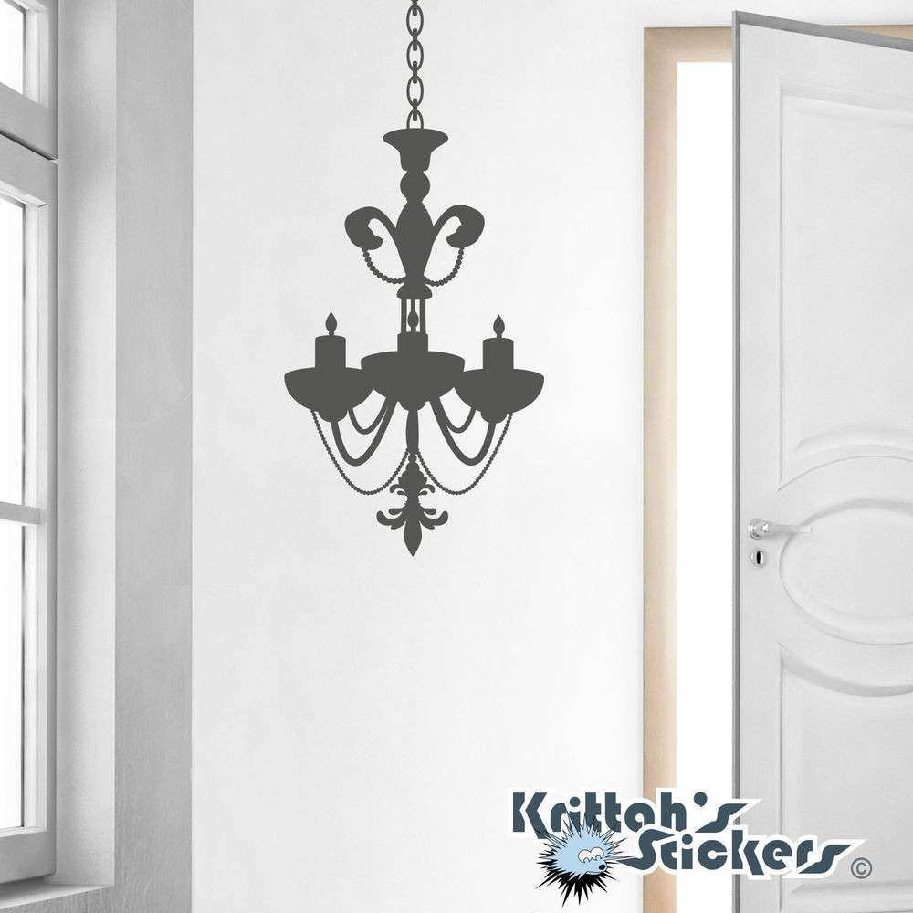 Chandelier Vinyl Wall Decal candle candelabra gothic art