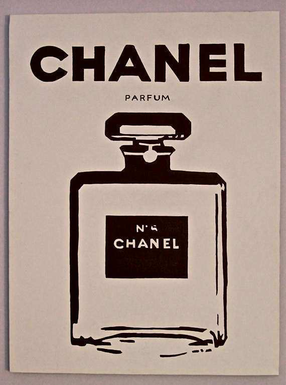 Items similar to Chanel Perfume Pop Art Chanel No 5 on Etsy