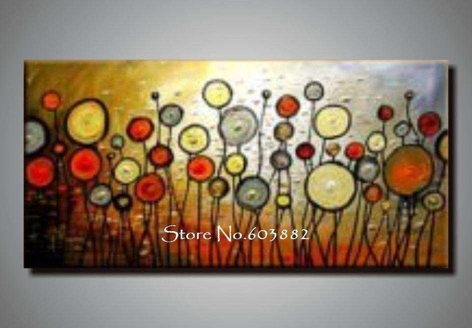 2016 Discount 100 Handmade Canvas Wall Art Abstract
