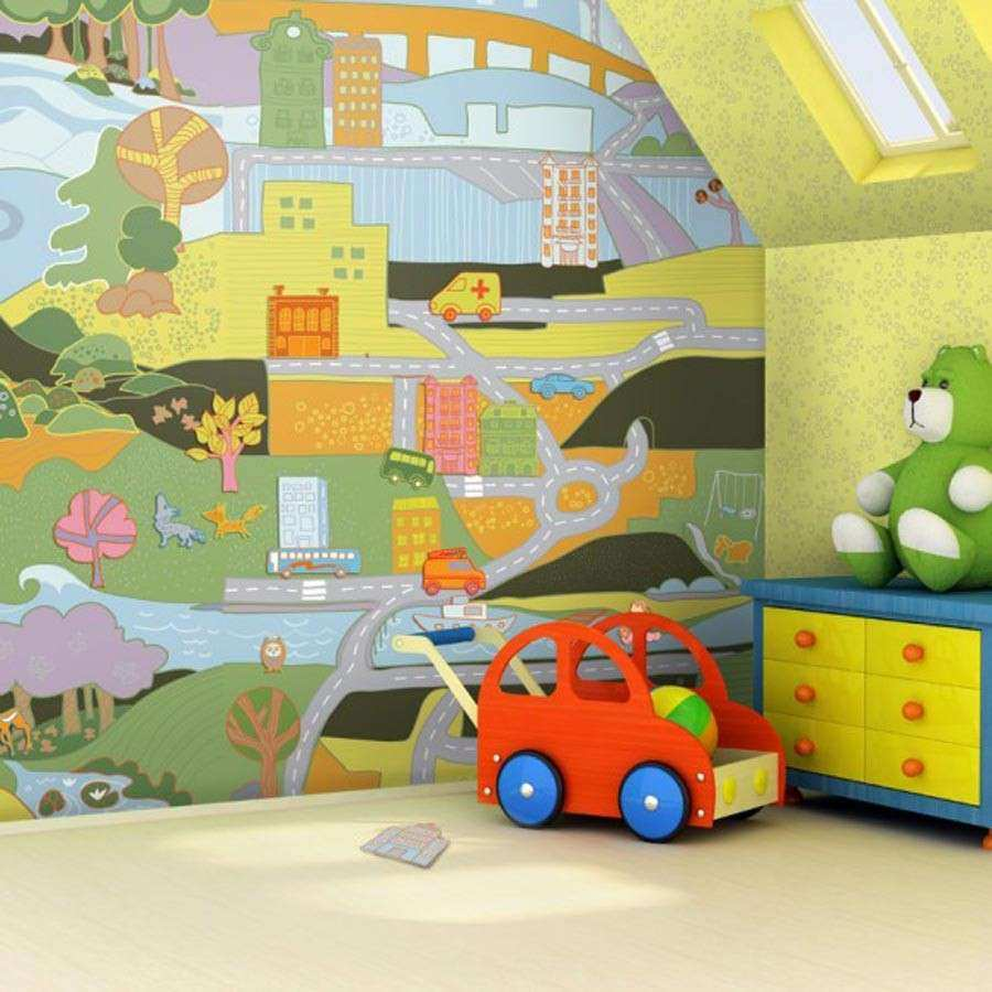 Childrens Wall Decor New Baby Nursery Wallpaper Ideas Mervin Cast ...