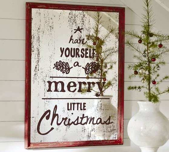 Merry Little Christmas Pottery Barn Knock f PinkWhen