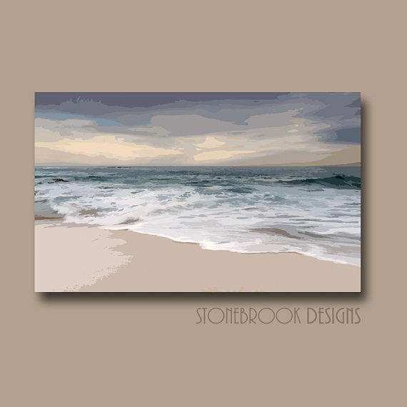 Coastal Nautical Wall Art CANVAS Abstract from