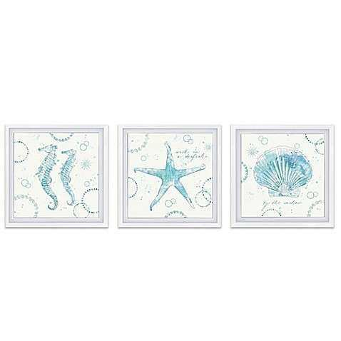 Coastal Splash Framed Canvas Wall Art Bed Bath & Beyond