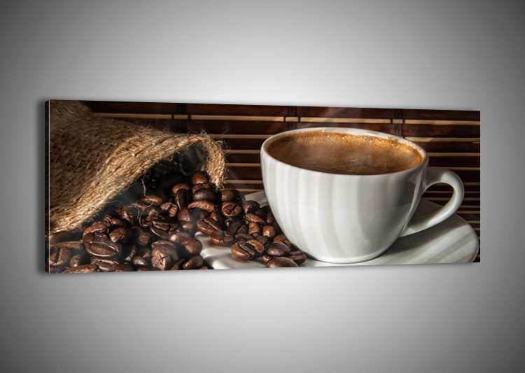 Framed Canvas Print Picture 48 Shapes Wall Art Coffee