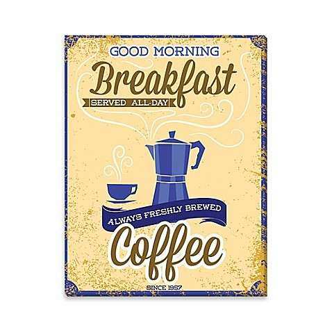 Good Morning Coffee Canvas Wall Art Bed Bath & Beyond