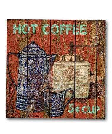 Courtside Market Hot Coffee Canvas Wall Art