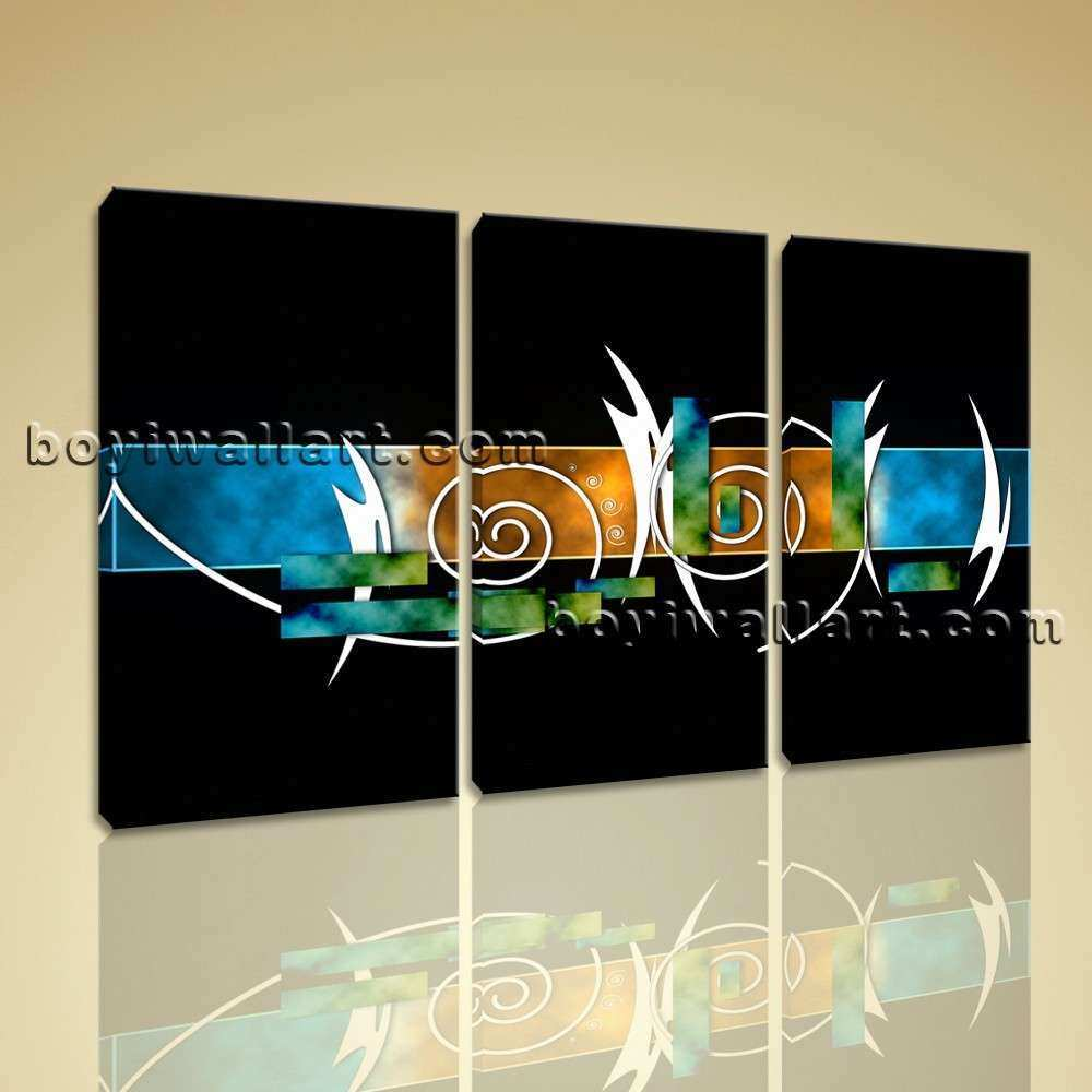 Framed Modern Abstract Painting Hd Print Canvas