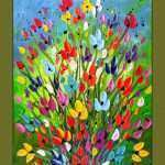 Colorful Canvas Wall Art New Colorful Flower Painting Textured Flower Painting On Canvas Of Colorful Canvas Wall Art