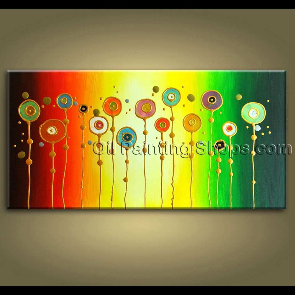 Original Abstract Painting Signed Gallery Wrapped
