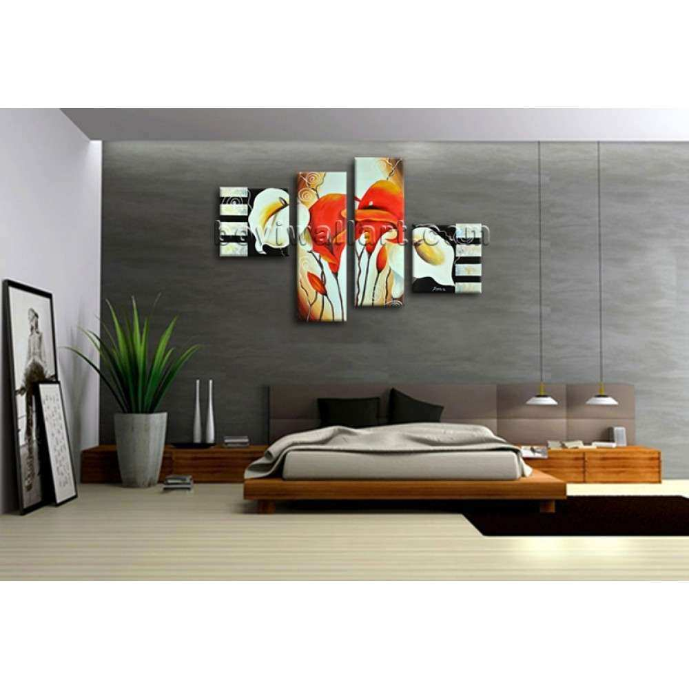 Canvas Wall Art Print Abstract Lily Flowers Painting