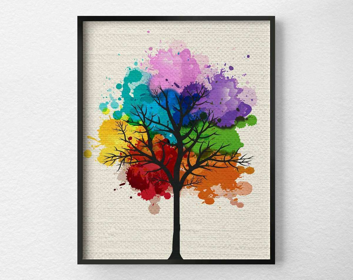 Tree Wall Art Modern Home Decor Tree Print Modern Art