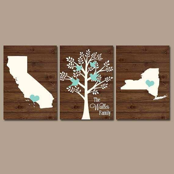 Custom Canvas Wall Art Luxury Two States Family Tree Canvas or Prints Personalized Wall Art & Custom Canvas Wall Art Luxury Two States Family Tree Canvas or ...