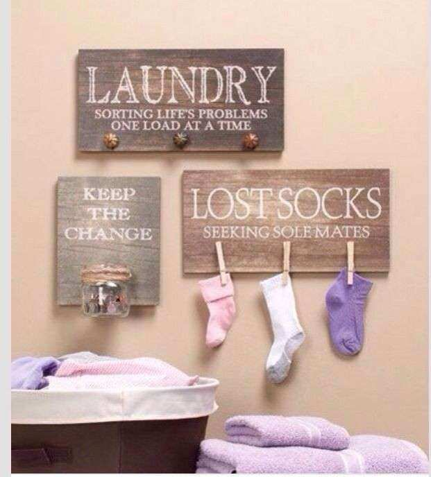 Cute Wall Decor Awesome Diy Laundry Room Pinterest