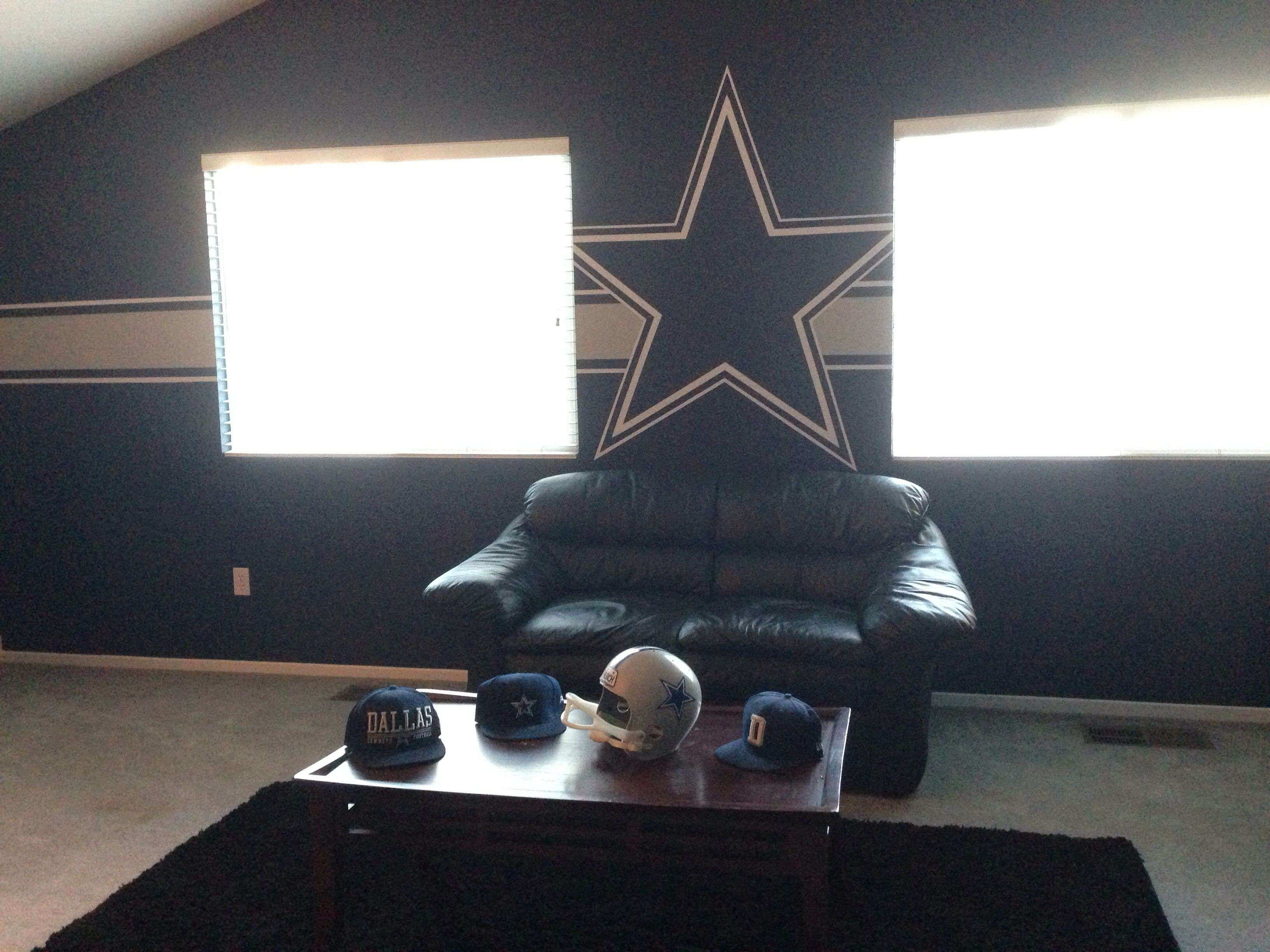 Dallas cowboy man cave for the Hubby