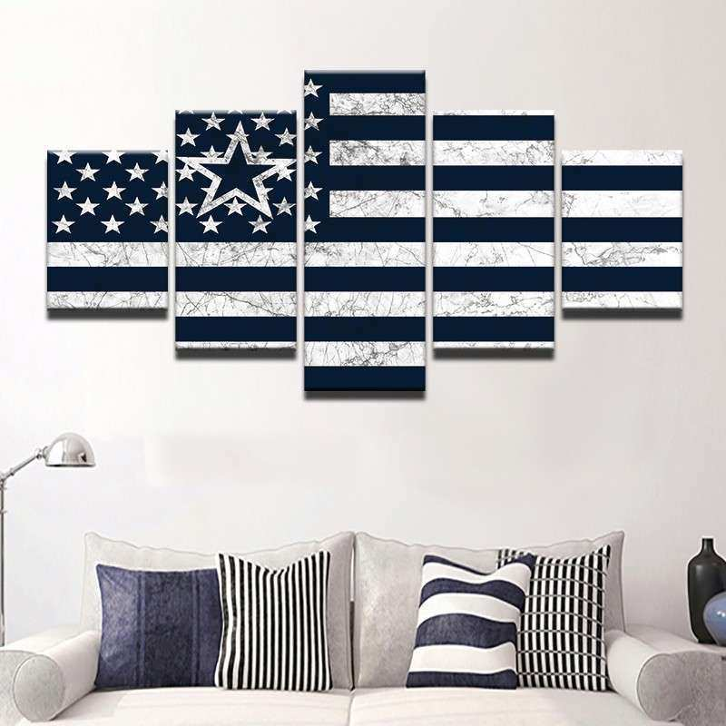 Dallas Cowboys Canvas Wall Art Best Of 5 Pieces Dallas Cowboys Flag Modular Picture Modern Home