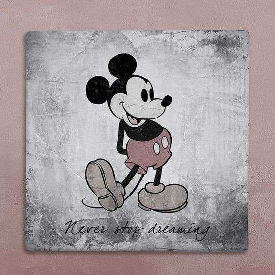 Disney wall art canvas in vintage style mickey mouse