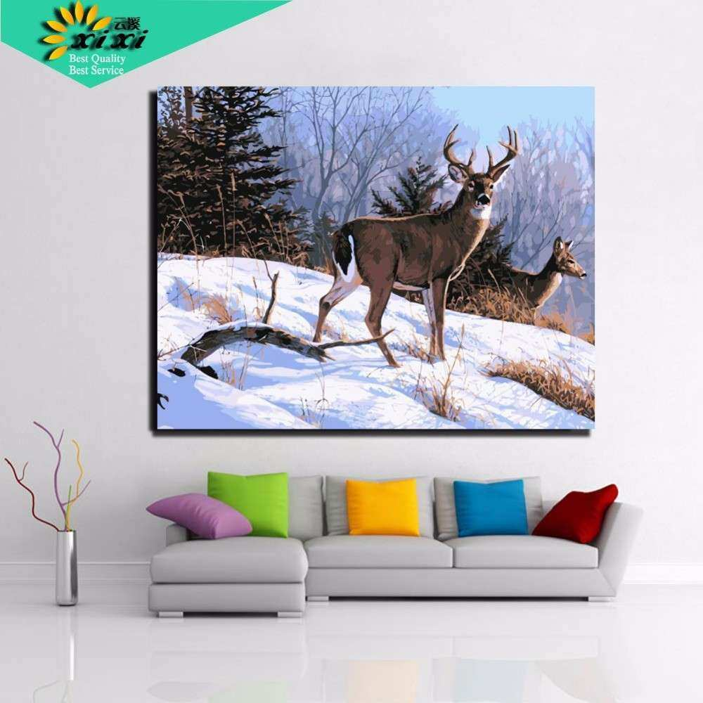 40 50 cm Digital DIY oil painting on canvas wall art