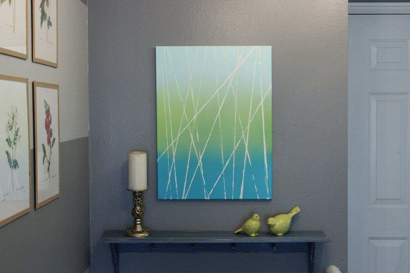 Diy canvas abstract art diy do it your self for Diy abstract canvas wall art