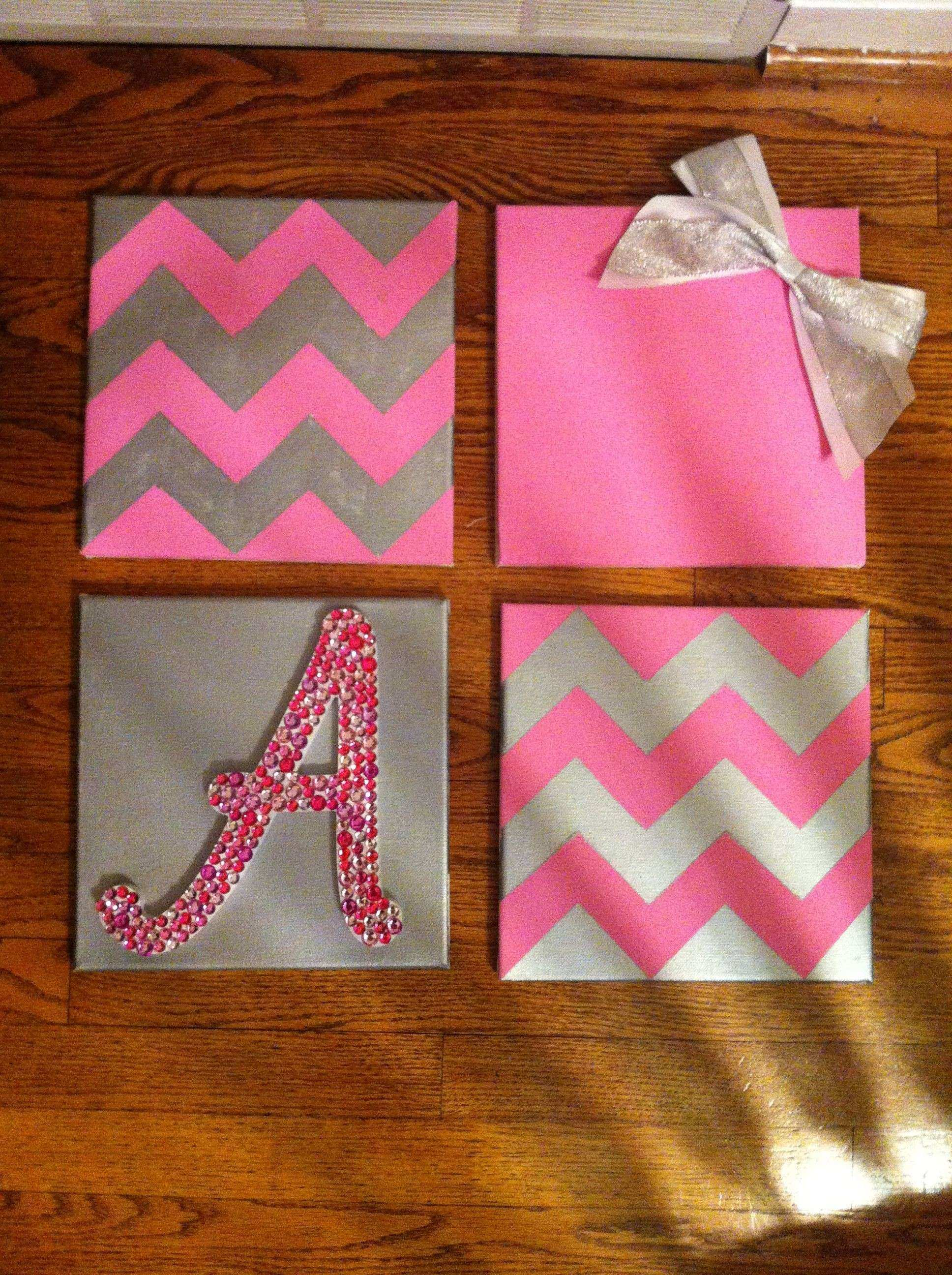 Diy canvas wall art luxury 18 dorm decor ideas a little for Things to do with mini canvases