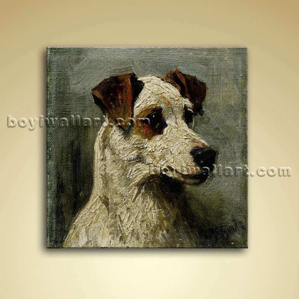 Classical Portrait Dog Painting Oil Canvas Wall Art
