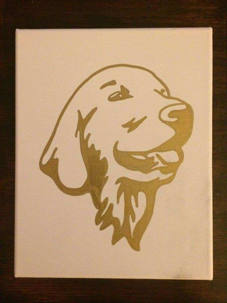 17 Best ideas about Dog Canvas Painting on Pinterest
