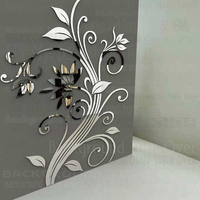 DIY spring nature single elegant flower wall stickers for