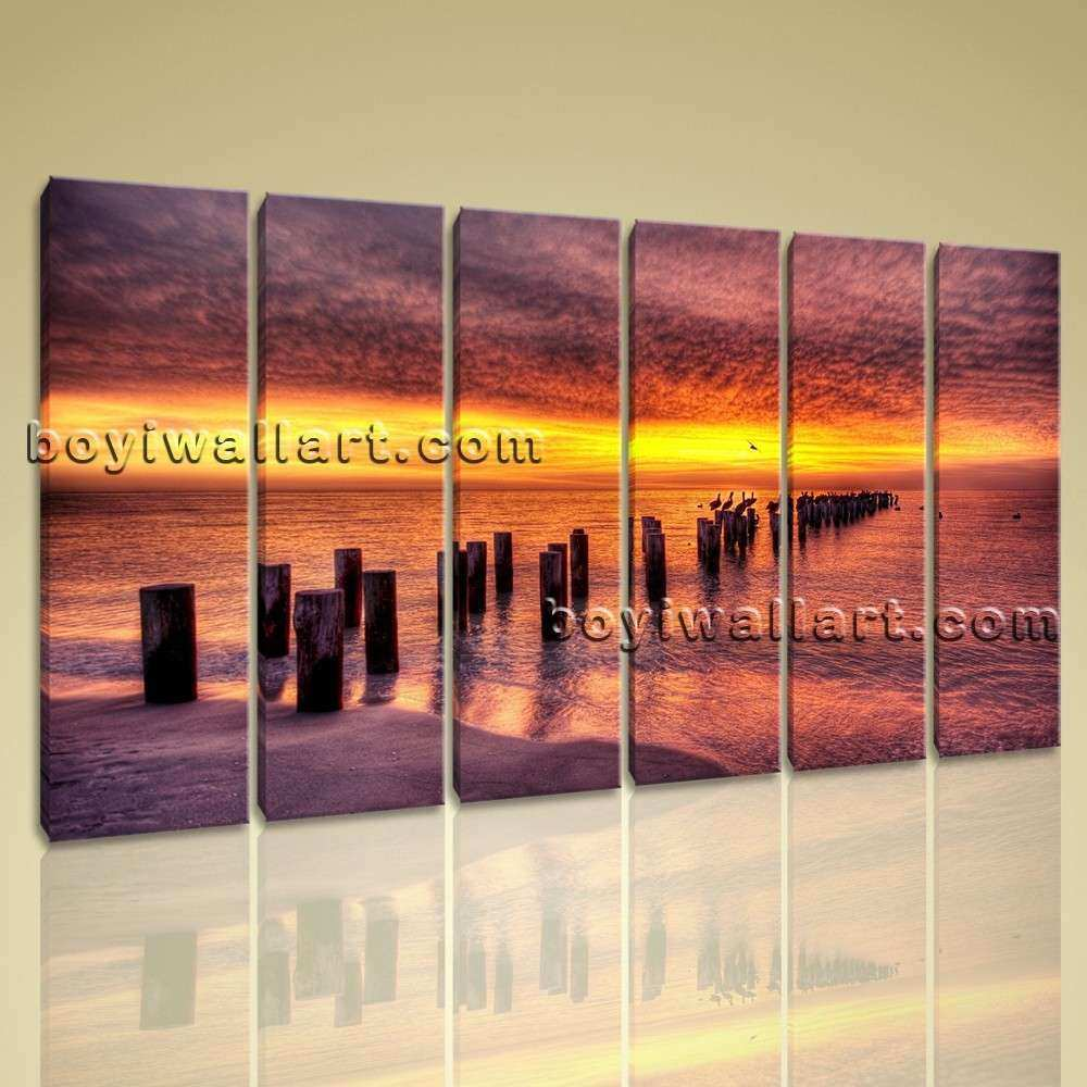 Extra Canvas Print Seascape Sunset Abstract