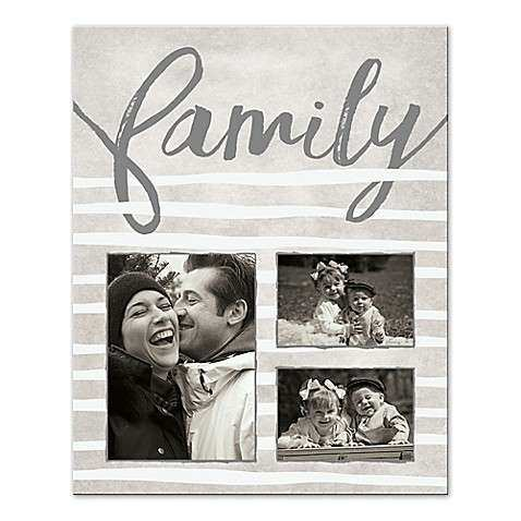 Stripes Family Collage Canvas Wall Art Bed Bath