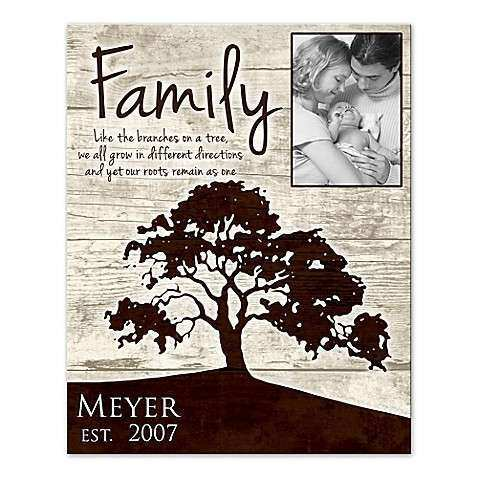 Family Roots Canvas Wall Art Bed Bath & Beyond