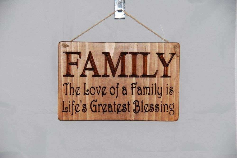 Family Sign Wall Decor Elegant Wood Signs By Hook Plaque