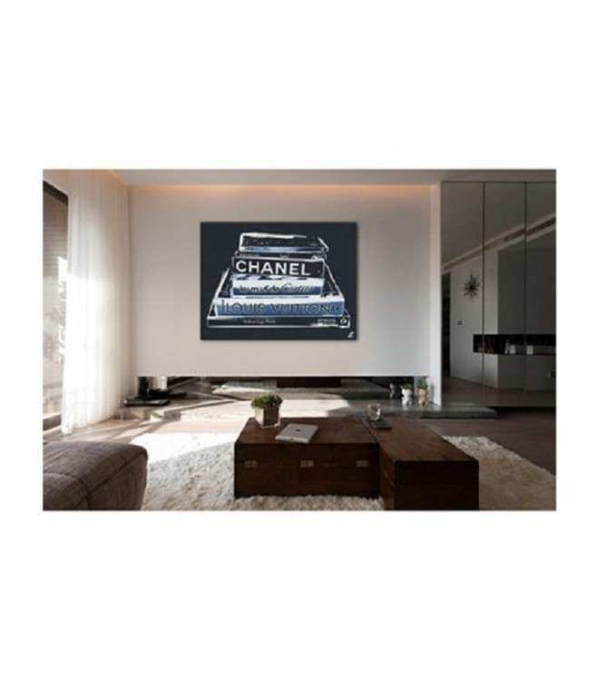Fashion Designer Book Canvas Wall Art Black & White