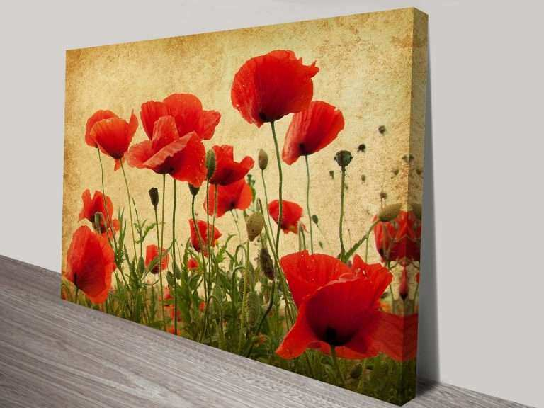 Floral Canvas Wall Art Elegant Canvas Prints Of Poppies Flower Art ...