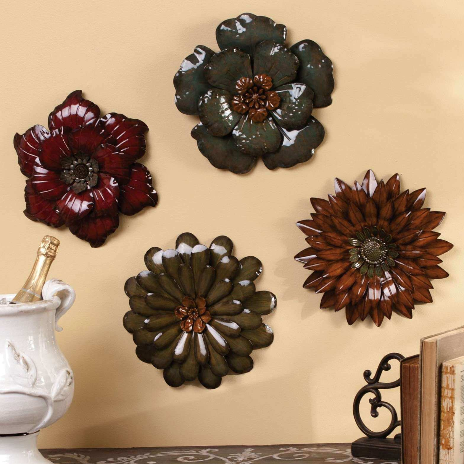 Flower Wall Art New Flower Wall Art Metal | Wall Art Ideas
