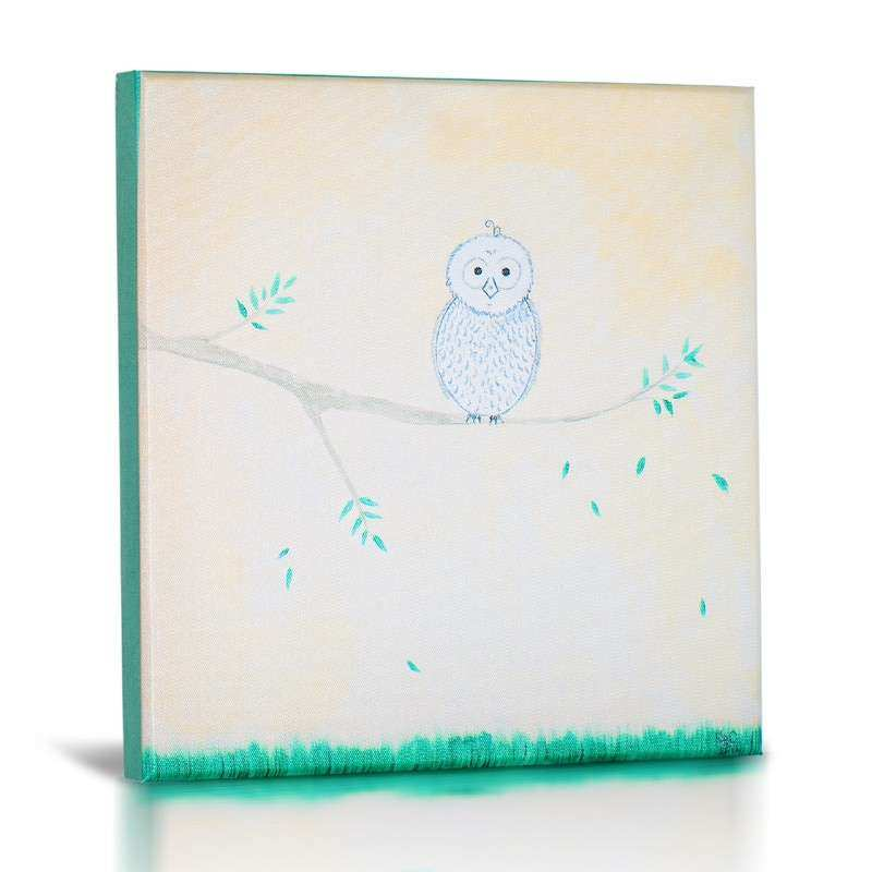 Forest Friends Canvas Wall Art Set of 4 by Green Frog Baby