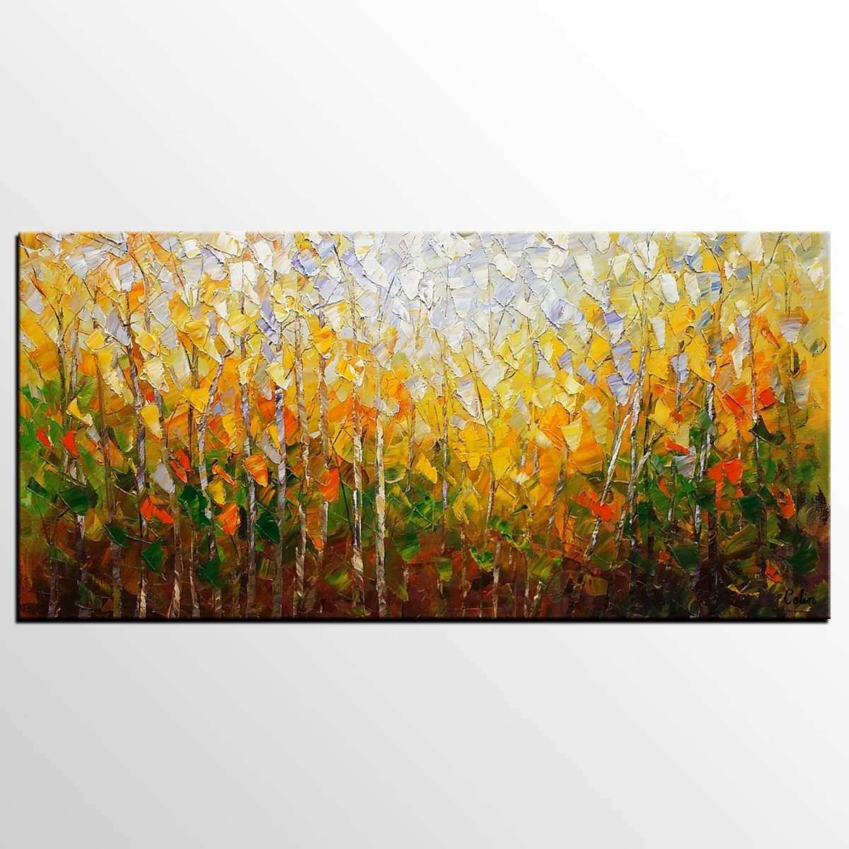 Forest Canvas Wall Art Unique Oil Painting forest Painting Canvas ...