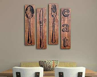 Fork Spoon Knife Wall Decor Inspirational And