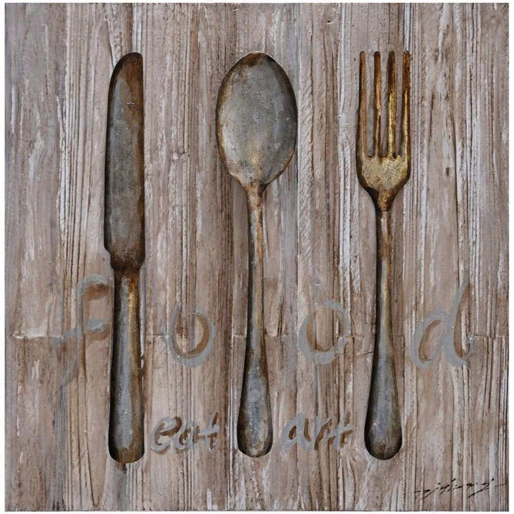 Woodland Imports Spoon Knife Fork Metal Wall Décor
