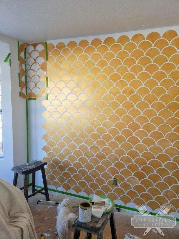 Gold and White Wall Decor Best Of Gold Scallops Accent Wall   Wall ...