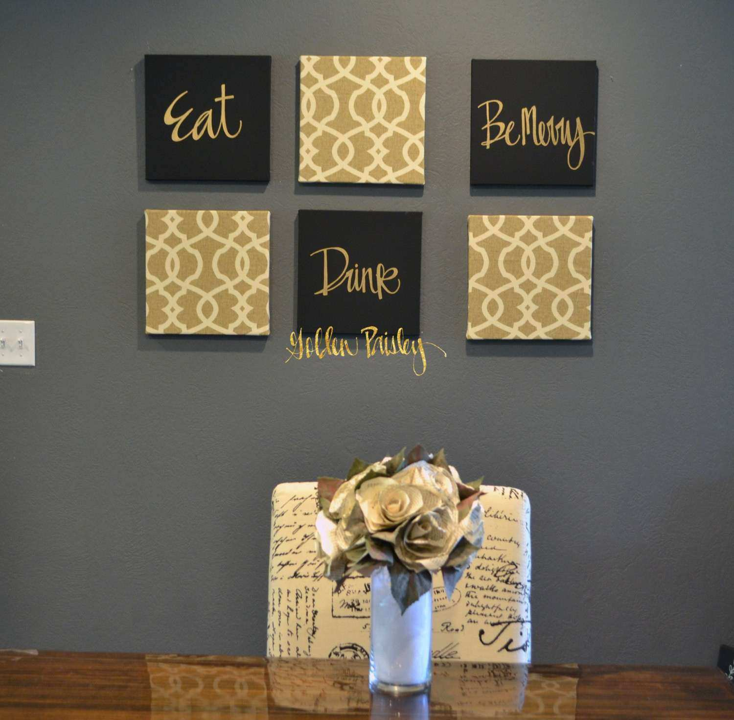 Gold and White Wall Decor Lovely Live