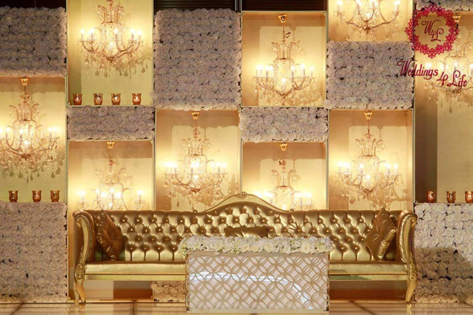Gold and White Wall Decor New 8 Stunning Stage Decor Ideas that Will ...
