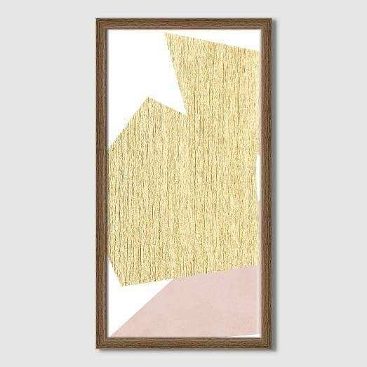 Silver and Gold Brushstroke Canvas Wall Art
