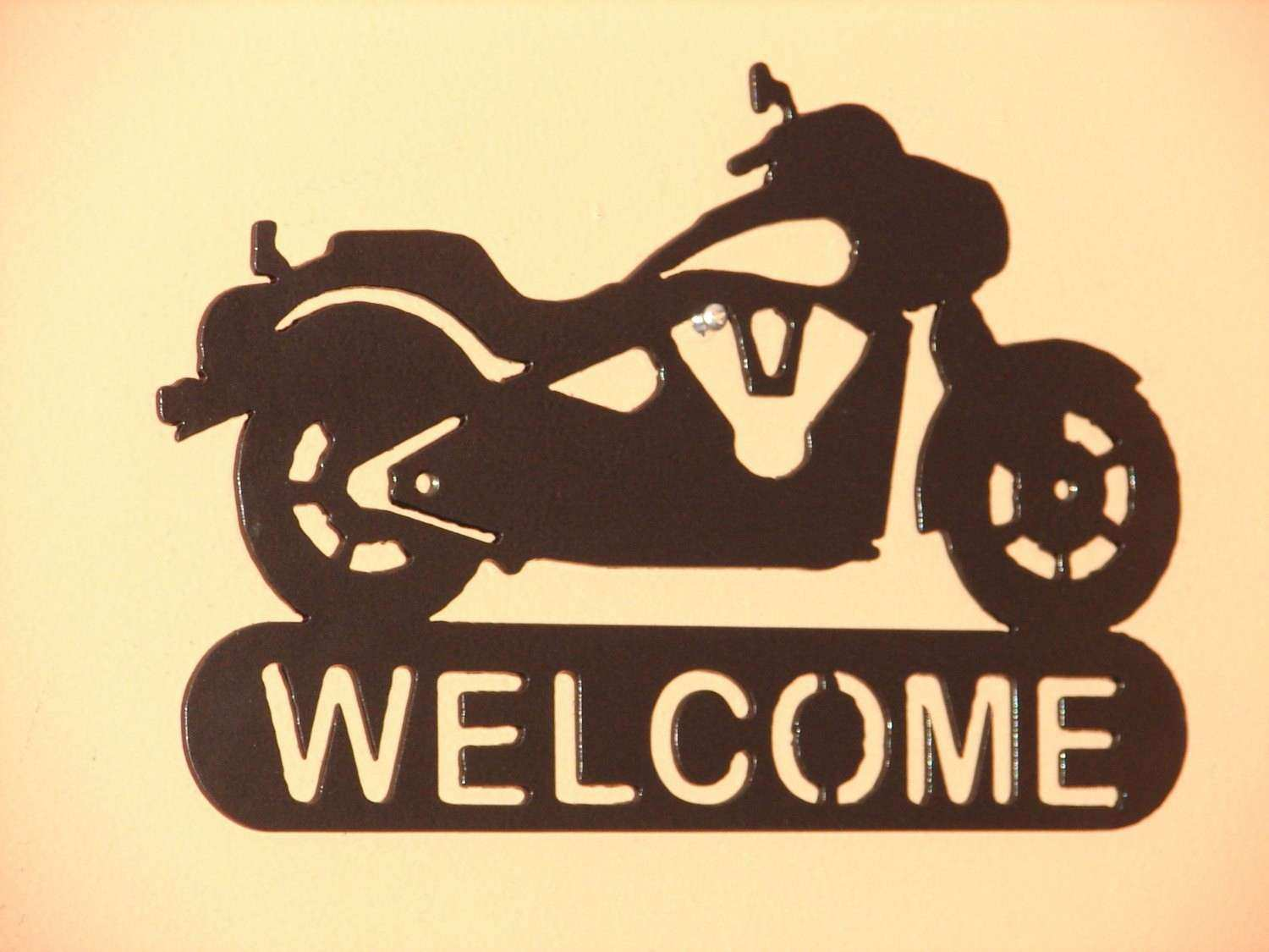 MOTORCYCLE HARLEY DAVIDSON WEL E SIGN HOME DECOR by