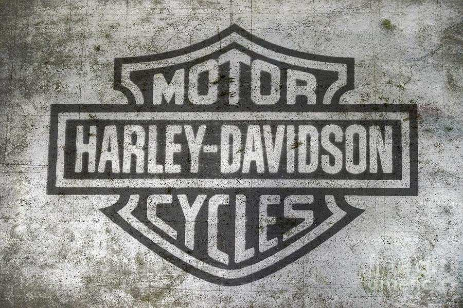 Harley Davidson Wall Art Metal Luxury Harley Davidson Logo Metal Digital Art by Randy Steele